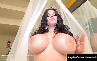 BBC Day! BBW Angelina Castro Milks A Chocolate Dark Dick!