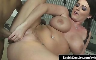 Busty British Beauty Sophie Dee Ass Fucked By Big Black Cock